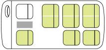 ジャンボタクシー車内座席